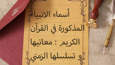 Photo of اسماء الانبياء المذكورة في القران الكريم و معانيها و تسلسلها الزمني