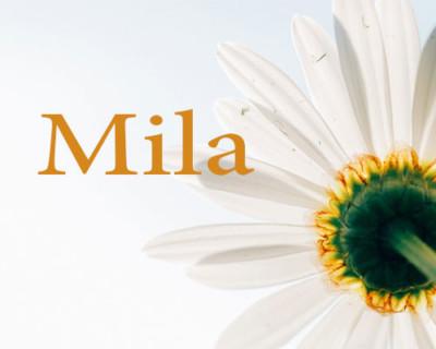 اسم ميلا بالانجليزي