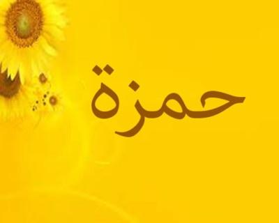 اسم حمزة مزخرف