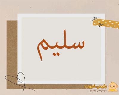 اسم سليم بالعربي
